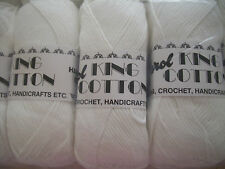 White Colour Craft Cotton By Jarol 5 x 100gm balls  [ 500g  ]