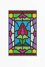 Stained Glass Spring Tulip~Beaded Banner Pattern