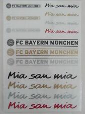 FC Bayern München oder Mia san mia 1 Aufkleber Schriftzug NEU 1 aussuchen