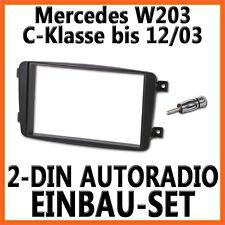 Mercedes Benz W203 C-Klasse Unviersal 2-DIN Autoradio Einbauset