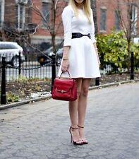 CLUB MONACO White ABBY Knit Dress A-Line Stretch NWT $189.50 Size 12