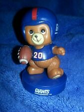 "VTG NY Giants NFL Teddy bear stamp 2 3/4 "" football figure RUSS SUPER BOWL Champ"