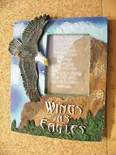 Wings as Eagles Spiritual Verse Photo Frame collectible mini picture frame