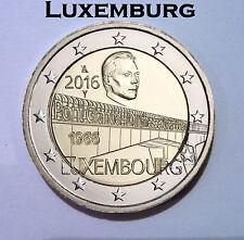 """2 Euro Gedenkmünze Luxemburg 2016 """"50 Jahre Großherzogin-Charlotte-Brücke"""""""