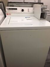 Used Perfectly Working White Maytag Coin-Op Commercial Washer Washing Machine