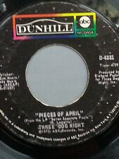 "THREE DOG NIGHT 45 RPM ""Pieces of April"" & ""The Writings On the Wall"" G+ cond."