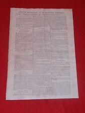JOURNAL GAZETTE NATIONALE OU LE MONITEUR UNIVERSEL N° 330 DIM 25 NOVEMBRE 1792