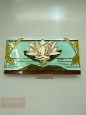 JUGENDSTIL FLIESE ORIGINAL UM 1900 ART NOUVEAU LILY  TILE COLLECTIBLE CARREAUX
