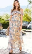 New *Next*(size Uk  18 ) Lovely Floral Could Shoulders Maxi Dress