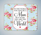THE WORLD MUM MOTHERS DAY GIFT MOUSE MAT MOUSE PAD COMPUTER PC GAMING GIFT