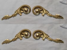 MIRROR FRAME OR PICTURE FRAME TWO PAIRS ORNATE SCROLL MOULDINGS ANTIQUE GOLD