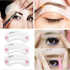 Eyebrow Shape Stencils Shaper Grooming Kit Brow MakeUp Template Tool Reusable UK
