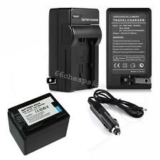New BP-727 BP727 Battery+Charger fit Canon VIXIA HF R300 R400 R500 R600 R62