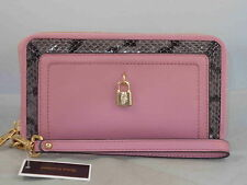 Juicy Couture LUXE LOCKS Soft Quartz Heather Leather Tech Wristlet Wallet WSG57