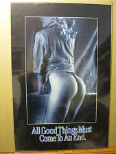 All good things must come to an end Hot girl man cave car garage 1989 Poster 630