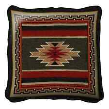SOUTHWEST INDIAN DESIGN EARTH TONES TAPESTRY THROW PILLOW 17x17