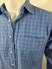 Ralph Lauren Mens Blue Checked Long Sleeve  Shirt Small