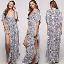 Love Stitch Bohemian Tie-Front Maxi Dress