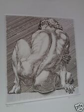 PAUL CADMUS (1904-1999) hand signed 1984 etching MALE NUDE #2 edition 46/100
