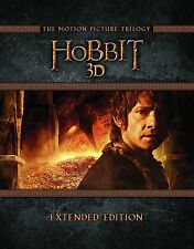 The Hobbit The Motion Picture Trilogy Extended Edition blu ray & 3D