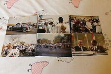 LOT de 6 photos du president POMPIDOU et sa femme  visite au TCHAD 1972