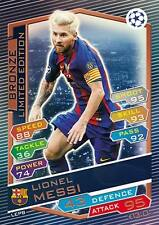 Match Attax 2016/17 Lionel Messi LEPB limited Edition Champions League bronze 17