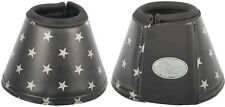 Harrys Horse Black bell boots with grey stars Large