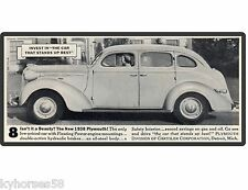 1938 Plymouth Sedan 2 Door  Auto Car  Refrigerator / Tool Box  Magnet