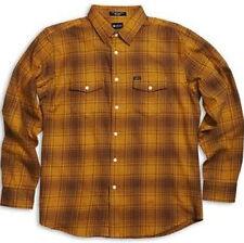 MATIX Fast Eddie Flannel Shirt (M) Gold