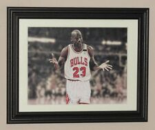 Michael Jordan Chicago Bulls 10 by 13 inches FRAMED photo poster print