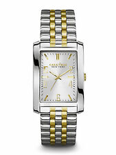 Bulova Reloj Hombre Men Watch Silver Gold Steel Crystal Hand Bracelet Pulsera