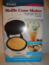 Rival Waffle Cone Maker Makes Sundae Dishes Waffle Cones And Cookies