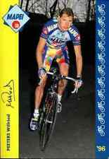 WILFRIED PEETERS Team MAPEI GB 96 cycling Ciclismo Printed autographe Signed