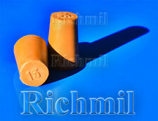 2x 13-16mm Solid Rubber Test Tube Bungs / Stoppers