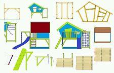 Bauanleitung Bauplan für Spielhaus Stelzenhaus Kinder Gartenhaus - PDF-Versand