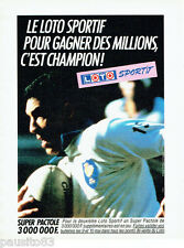 PUBLICITE ADVERTISING 016  1985  Loto Sportif   super pactole Rugby