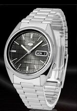 Seiko 5 Men's SNXF07K1 Stainless Steel Automatic Day Date Watch