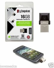 Kingston Digital 16GB Data Traveler Micro Duo USB 3.0 Micro USB OTG DTDUO3/16GB