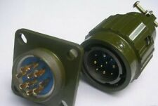 2,Military Gold 10-Pin Twist Male Female Connector,M10P