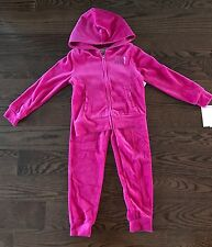 NWT Juicy Couture Girl 2 Pice Velour Set, Jacket & Pants Size 5
