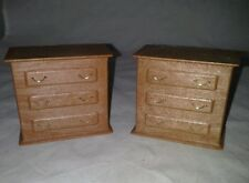 Dollhouse Miniature Vintage 2 Dressers Battery Power Pack Box For 3 Lamps Each