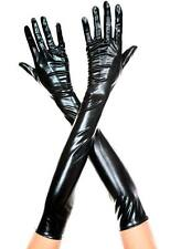 Shiny Metallic Wetlook Long Gloves Halloween Costume Burlesque Cosplay 7 Colors