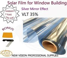 Film Tint Solar Silver Mirror Effect for Window Building VLT 35% 152cmX30m