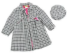 Penelope Mack Girls Checkered Part Wool Jacket W/Hat Size 5