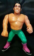 TITO SANTANA wwf SERIES 6 wrestling HASBRO figure BLUE CARD WWE TITAN SPORTS