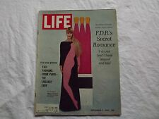 LIFE Magazine September 2 1966~F.D.R.'s Secret Romance~Paris Styles ~  60's Ads