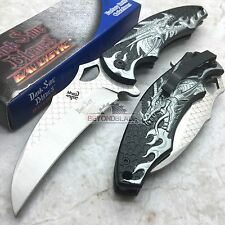 DARK SIDE BLADES Silver Dragon Folding Rescue Pocket Hunting Knife DS-A007SL