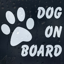DoG Paw Print On Board Car Decal Vinyl Sticker Colour Choice For Window Panel