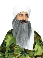 OSAMA MIDDLE EAST WHITE TURBAN & BEARD MUSTACHE INSTANT COSTUME FW90266