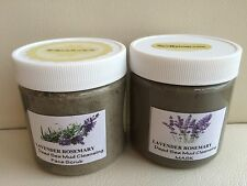 SPA Uptown Dead Sea Mud Facial Mask & Facial Scrub With Lavender Rosemary. 2 Jar